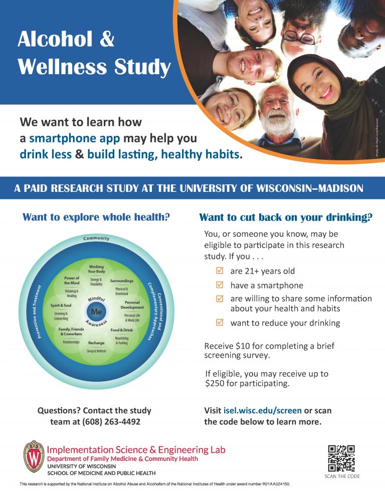 Alcohol & Wellness Recruitment Flyer